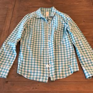 J crew perfect shirt size small gingham